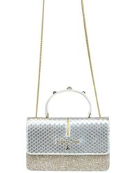 Patrizia Pepe - Women's Silver Faux Leather Handbag - Lyst