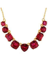 Les Nereides - La Diamantine 9 Grenadine Stones Necklace - Lyst