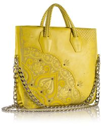 Nada Sawaya - B Lula Laser-cut Leather Crossbody/tote - Lyst
