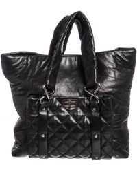 Chanel - Black Leather Quilted Reissue Shoulder Bag Tote - Lyst