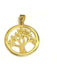 Jewelry Affairs - Sterling Silver 18 Karat Gold Overlay Plated Tree Of Life Pendant - Lyst