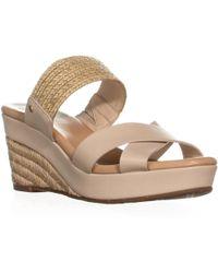 UGG - Australia Adriana Wedge Mule Sandals, Horchata - Lyst
