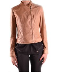 Brema - Women's Brown Leather Outerwear Jacket - Lyst