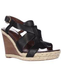 Cole Haan - Breecey Wedge T-strap Wedge Sandals, Black - Lyst