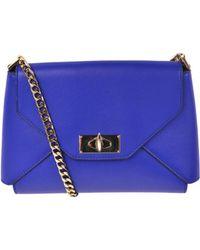 Givenchy - Royal Blue Leather Shark Lock Medium Envelope Shoulder Bag - Lyst