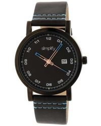 Simplify - Unisex The 5300 Leather Band Watch - Lyst