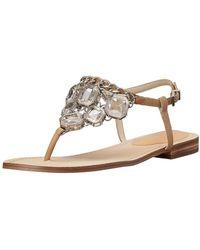 BCBGeneration - Womens Baila Leather Split Toe Casual Slingback Sandals - Lyst