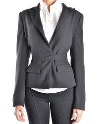Who*s Who - Women's Black Polyester Blazer - Lyst