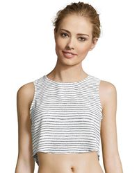 Romeo and Juliet Couture | Stripe Crop Top | Lyst