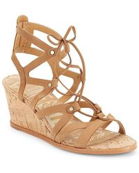 Dolce Vita - Open-toe Ankle-tie Cage Sandal - Lyst