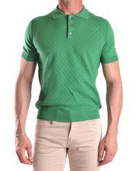 Zanone - Men's Mcbi373002o Green Cotton Polo Shirt - Lyst