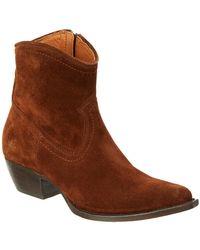 Frye - Women's Sacha Suede Short Boot - Lyst