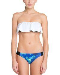 Hurley - Aussie Blue Print Bikini Bottom - Lyst