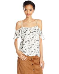 Lucky Brand - Off The Shoulder Printed Top - Lyst