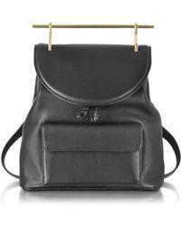 M2malletier - Women's Black Leather Backpack - Lyst