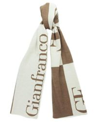 Gianfranco Ferré - Scr 01948 Brown/beige Knitted Signature Wool Blend Mens' Scarf - Lyst
