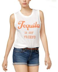 Junk Food - Tequila Graphic Tank Top - Lyst