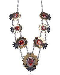 Roberto Cavalli - Womens Swarovski Red Diamond Shaped Necklace - Lyst