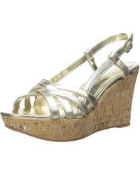 Ralph Lauren - Lauren By Womens Quaylin Leather Open Toe Casual Platform Sandals - Lyst