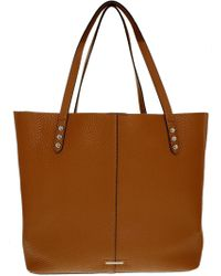 Rebecca Minkoff - Women's Medium Unlined Tote Leather Top-handle Bag - Almond - Lyst
