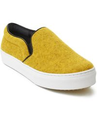 Céline - Women's Faded Felt Slip-on Sneaker Shoes Yellow - Lyst