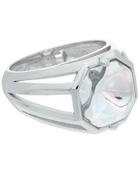 Baccarat - L'illustre Silver Crystal Small Ring - Lyst