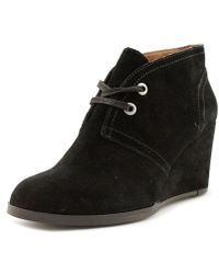Lucky Brand - Seleste Women Round Toe Suede Black Ankle Boot - Lyst