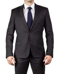Luciano Barbera - Men's Two Button Wool Suit Graphite Grey - Lyst
