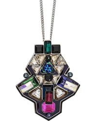 Swarovski | Crystal Buzz Plated Necklace | Lyst