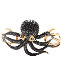 Socheec - Diamond Octopus Cuff - Lyst