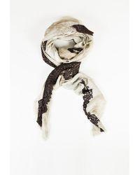"Dianora Salviati - 11 Brown Cotton Blend Lace Trim ""marsala"" Scarf - Lyst"