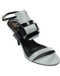 Roger Vivier - Hit Color Square Buckle Ankle-strap Heels Shoes - Lyst