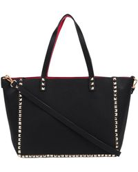 Inzi - Two Color Tote With Stud Border - Lyst