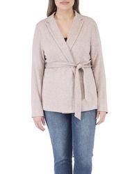 Bobeau - Baron Plus Size L/s Tie Front Jacket - Lyst