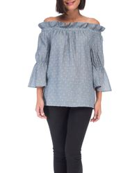 Bobeau - Martha Off The Shoulder Top - Lyst
