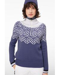 Bogner - Babette Knit Pullover In Violet/off-white - Lyst