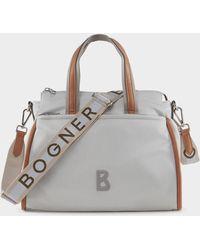 Bogner - Lech Hanna Handbag In Light Grey - Lyst