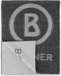 Bogner - Scarf In Black/grey - Lyst