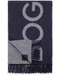 Bogner - Lilja Oversized Scarf In navy Blue/grey - Lyst