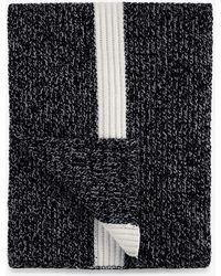 Bogner - Revel Knitted Scarf In Dark Grey Melange - Lyst