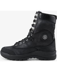 Bogner - Stockholm Laced Boots In Anthracite - Lyst