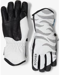 Bogner - Fine Gloves In Off-white/black - Lyst