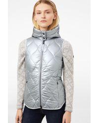 Bogner - Gigi Quilted Vest In Silver - Lyst