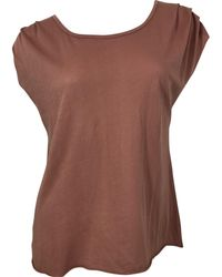The Lady & The Sailor - Pleat Shoulder Tee - Rose Gold - Lyst