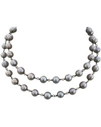 The Woods Jewelry - Grey Pearl Necklace - Lyst