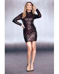 2b86c755 Boohoo Boutique Multi Sequin Bodycon Dress in Red - Lyst