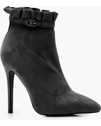 Boohoo - Holly Frill Detail Shoe Boot - Lyst