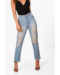Boohoo - Boyfriend Denim Jeans - Lyst