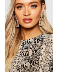 Boohoo - Textured Oversized Statement Earrings - Lyst