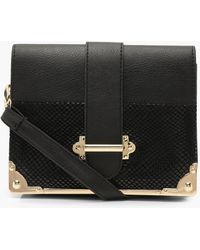 fc12e2c7d3d Boohoo - Plus Croc Embossed Buckle Cross Body Bag - Lyst